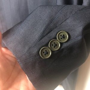 Missoni Suits & Blazers - MISSONI UOMO Men's Dark Grey Wool Double breast